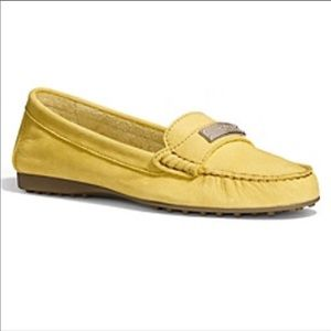 Coach Fredrica Yellow Leather Loafer